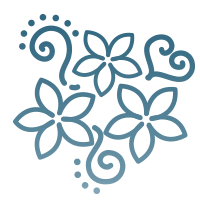 Flower icon to represent a comfortable experience