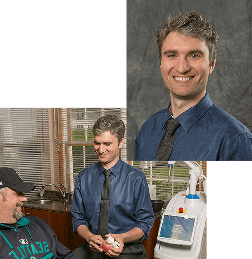 Federal Way dentist Dr. Jonathon Einowski who practices laser dentistry